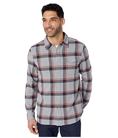 The North Face Long Sleeve Arroyo Flannel Shirt (Mid Grey Gully Plaid) Men