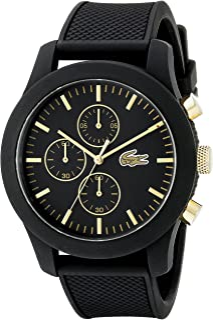 Lacoste Men's 2010826 12.12 Analog Display Quartz Black Watch
