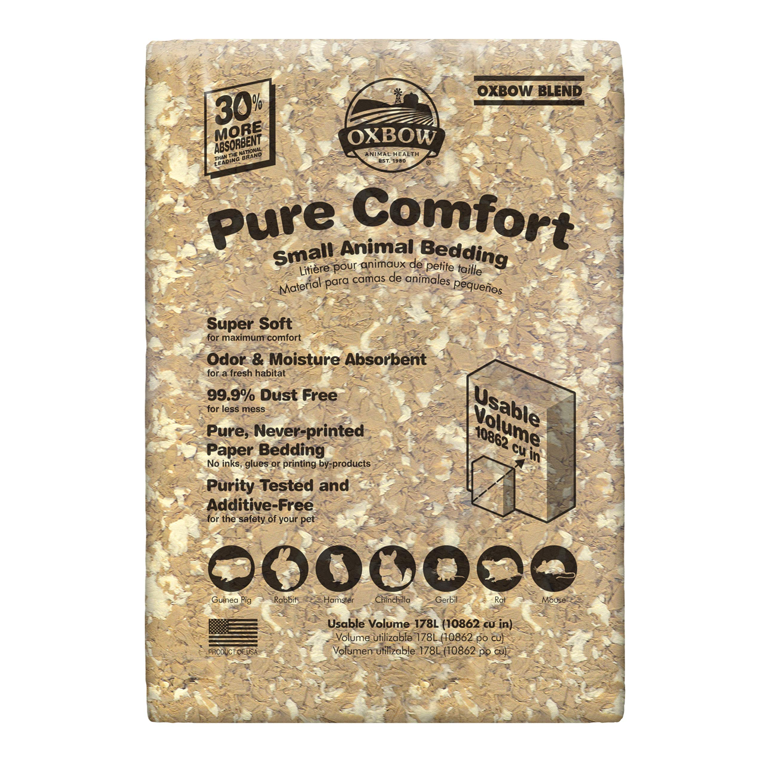 Oxbow Pure Comfort Small Animal Bedding - Odor & Moisture Absorbent, Dust-Free Bedding for Small Animals