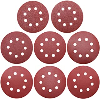 80 Pieces 5 Inch 8 Holes Sanding Discs Assortment Pack Made From Premium Aluminum Oxide, Viaky Grit Sizes 40/60/ 100/120/ ...