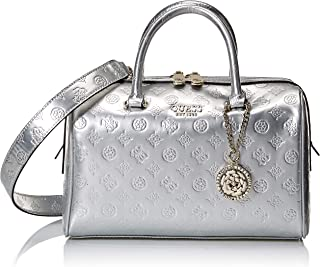 GUESS womens Peony Shine Box Satchel