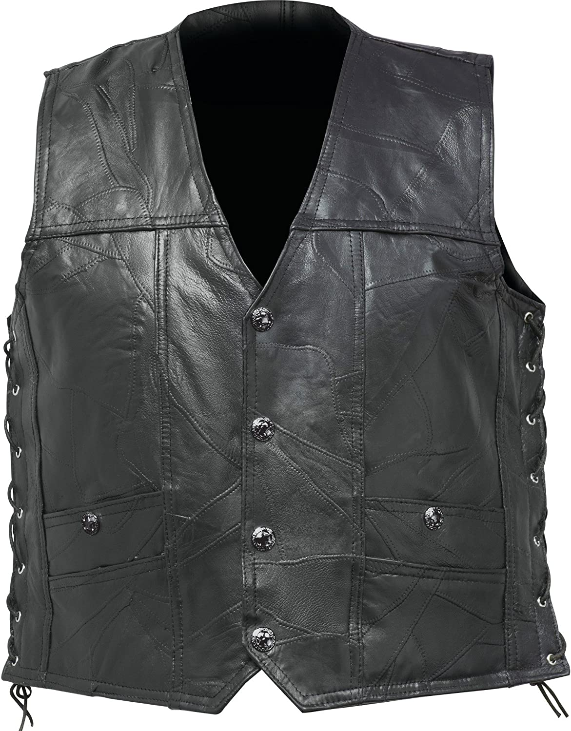Genuine Buffalo Leather Concealed Carry Vest No Patches