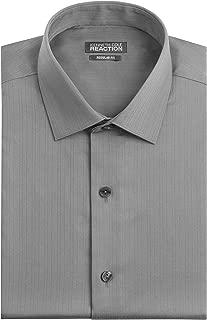 Men's Textured Regular Fit Solid Spread Collar Dress Shirt