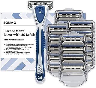 Marca Amazon- Solimo Maquinilla de afeitar de triple hoja