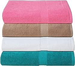 Fresh From Loom Premium Cotton Bath Towel Set (Set of 4, Size: 27x54 Inch, Multicolor)