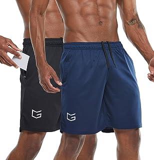 "G Gradual Men's 7"" Workout Running Shorts Quick Dry Lightweight Gym Shorts with Zip Pockets"