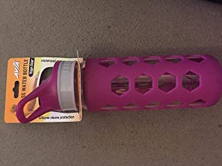 Avia Glass Water Bottle 16oz purple Silicone sleeve protection Yoga Gear
