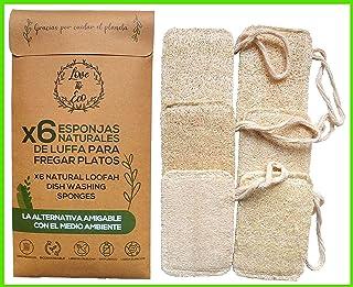 Love The Eco® Esponjas De Luffa para Fregar Platos | X6 | E