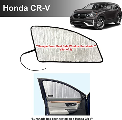 2021 Side Window Front Seat Reflective Sunshade Custom lowest Fit for 2017 2018 2019 2020 2021 Honda CR-V CRV LX, EX, EX-L, popular EX-L Navi, Touring SUV, UV Reflector Sun Protection Accessories (Set of 2) sale