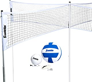Franklin Sports Quad Volleyball - Volleyball Meets 4 Square - Complete Net System, Jumbo and Traditional Volleyballs Inclu...