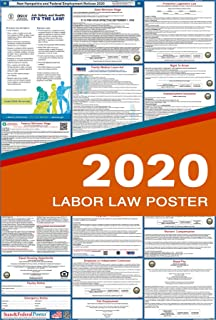 2020 New Hampshire Labor Law Posters (Laminated) All-in-One State and Federal Approved, OSHA Compliant Vertical 27