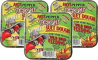 C & S Hot Pepper Delight No Melt Suet Dough Cake (3 Pack / 11.75 oz Each)