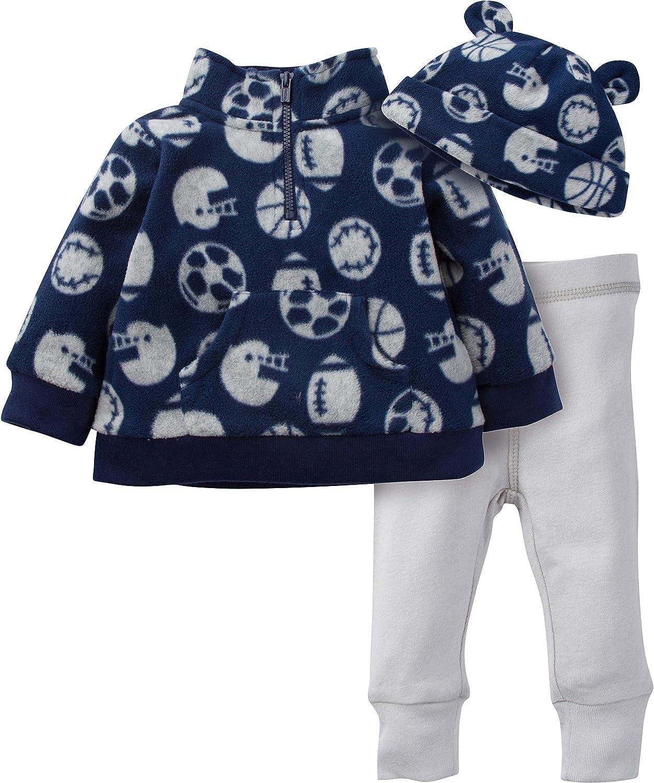 Gerber Baby Boys' 3-Piece Top, Pant and Cap Set