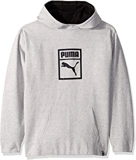 Large, Gold Fusion Puma Big Boys Formstripe Popover Hoodie