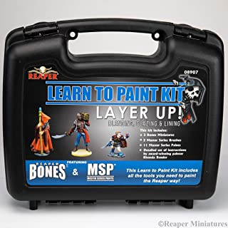 Reaper: 08907 - Learn to Paint: Layer Up! Bones Paint Set