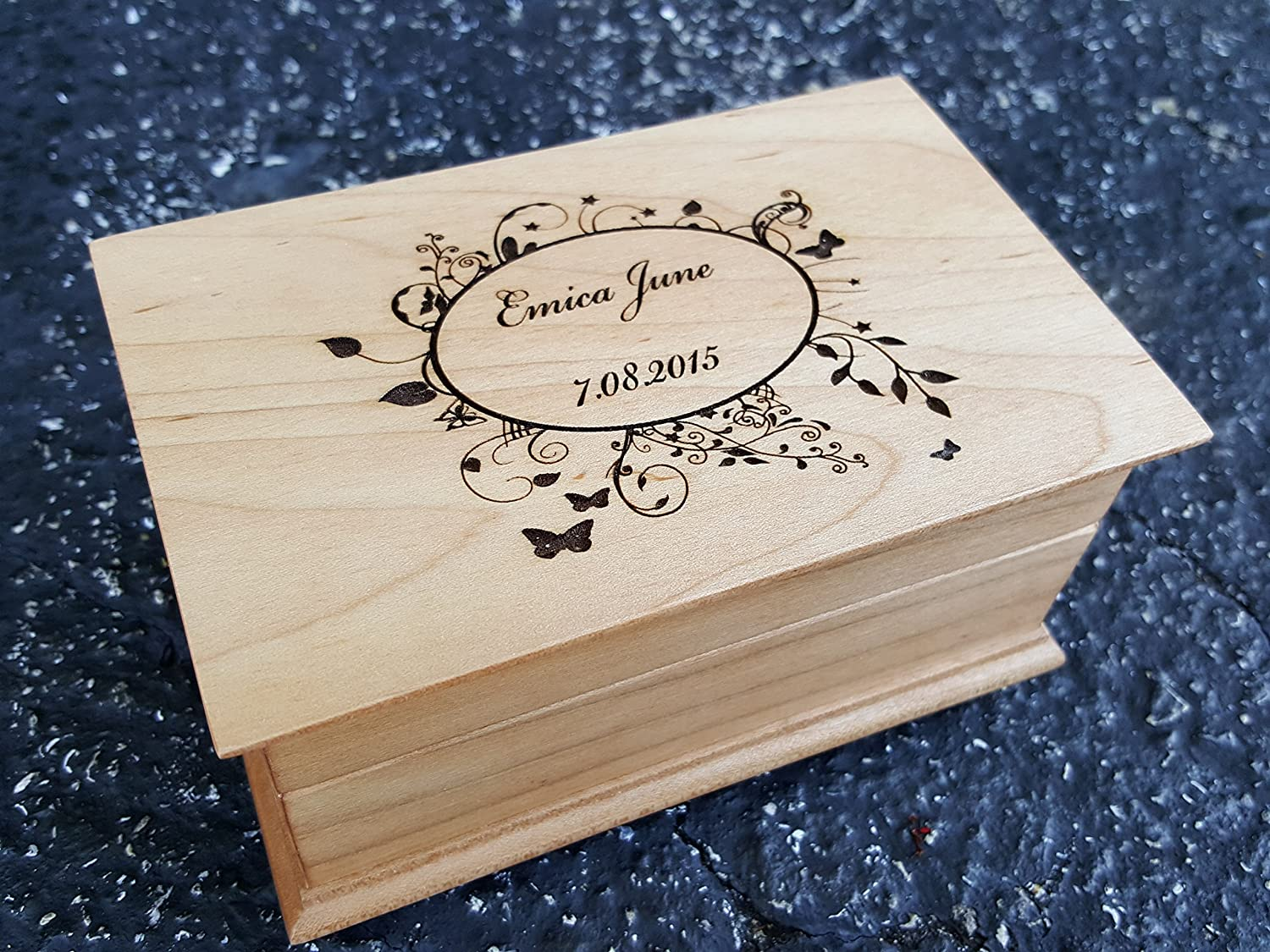 Custom engraved wooden music box choice jewelry your with Free Cheap SALE Start shipping New