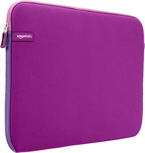 AmazonBasics 15.6-inch Laptop Sleeve - Internal Dimensions - 15 X 0.4 X 11 Inches - Purple