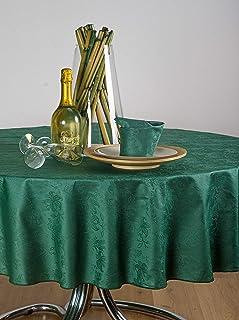 ESSE HOME - Ligne Confestyl - Nappe avec 12 serviettes (Service de table) - Ovale - Jacquard Pur Coton - Made in Italy - P...