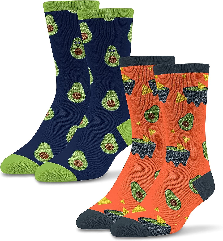 Socktastic Men's Avocado and Guac Socks 2 Pack - Funny Novelty Socks for Men, Fits Shoe Sizes 8-13