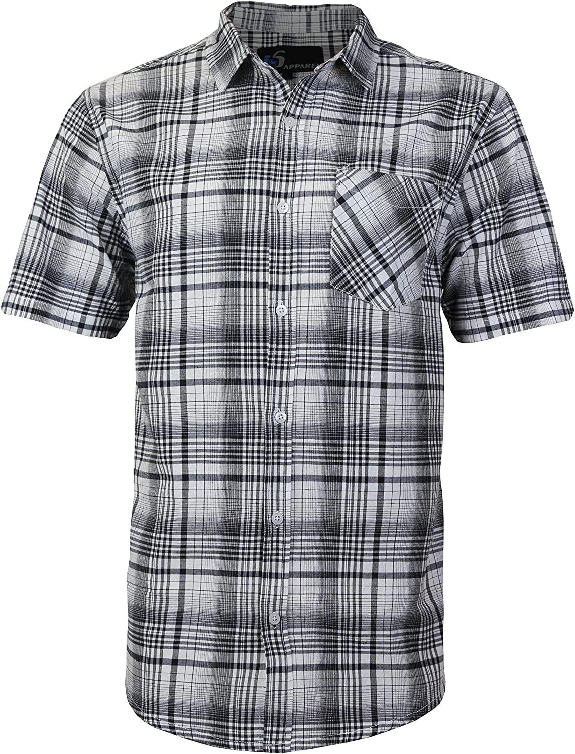 Los Angeles Mall Men's Plaid Checkered Button Down Sleeve Casual Fi Short Regular Selling rankings