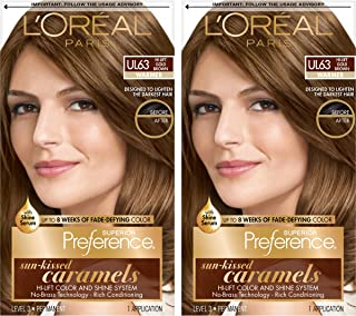 L'OrÃal Paris Superior Preference Fade-Defying + Shine Permanent Hair Color, U163 Hi-Lift Golden Brown, 2 Count Hair Dye