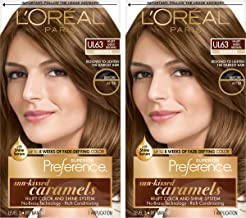 L'Oreal Paris Superior Preference Fade-Defying + Shine Permanent Hair Color, U163 Hi-Lift Golden Brown, 2 Count Hair Dye