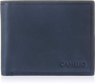 Camelio Navy Men's Leather RFID Blocking Wallet