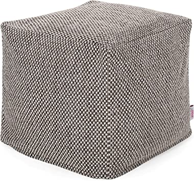 Christopher Knight Home Fannie Fabric Pouf, Brown, Ivory