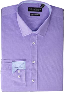 Texture Weave Stretch Dress Shirt
