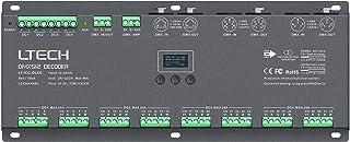LTech LT-932-OLED 32 Channel CV DMX RDM Digital PWM Decoder 8/16 bit dimming for RGB & RGBW LED Lighting 12-24V DC Driver Controller 32x3A Dimmer OLED Display