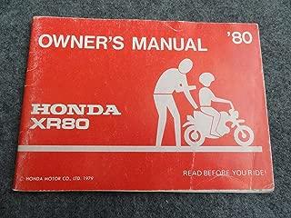 1980 Honda XR80 Owners Manual XR 80