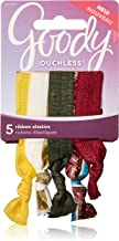 Goody Ouchless Ribbon Hair Tie Elastics, Vintage Gold (Pack of 3)