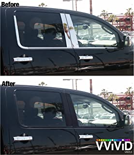 VViViD No-More Chrome Black Vinyl Overlay Wrap Black-Out Strips 2 Inch x 20ft Roll DIY (Satin Matte Black)