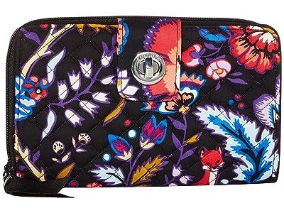 Vera Bradley RFID Turnlock Wallet (Foxwood) Wallet Handbags