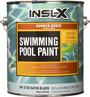 COMPLEMENTARY COATINGS RP2720092-01 INSL-X Black Rubber-Based Swimming Pool Paint, 1 gallon, Black