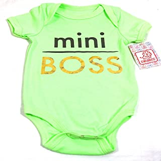 Swiggles Infant Unisex Onesie Mint Color Mini Boss Size 6-9 MO