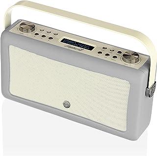 VQ Hepburn Mk II DAB & DAB+ Digital Radio with FM, AM, Bluetooth & Alarm Clock – Light Grey, (VQ-HEPMKII-LG/AUS)