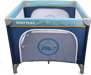 BABY PLUS BP8058 Portable Bed and Playard, Multicolor - Pack of 1, BP8058-D.BLUE/BLUE, BP8058-D.BLUE/BLUE