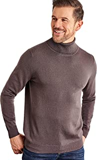 WoolOvers Mens 100% Merino Polo Neck Jumper
