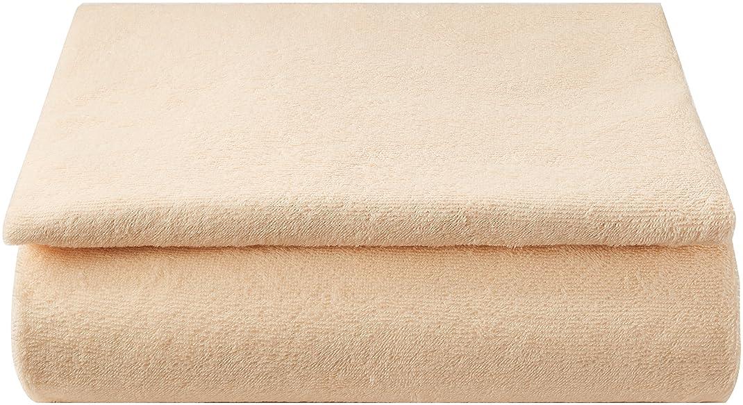 行商掃くあさりいろどりSTREET 敷き布団カバー 和式用 フィットシーツ シングル 抗菌防臭加工付き ベージュ パイル 綿 100%