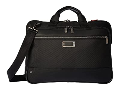 Briggs & Riley @work Slim Brief (Black) Briefcase Bags