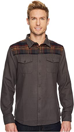 Navy Plaid/Solid Grey