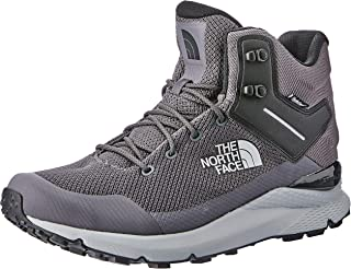 The North Face Men's Vals Mid Wp Trekking & Hiking Boots, Blackened Pearl/TNF Black