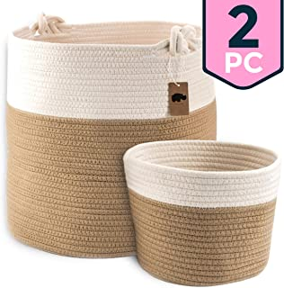 Little Hippo 2pc Large Cotton Rope Basket (15