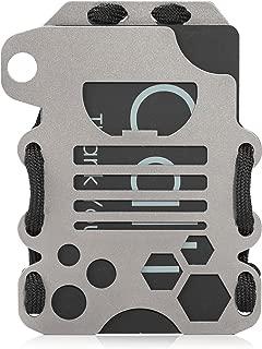 Calti Tactical Titanium EDC Minimalist Slim Wallet, RFID Blocking, Men & Women