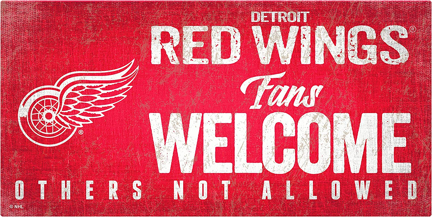 NHL Detroit Red Wings Unisex High order Welcome Sign 1 year warranty Fans