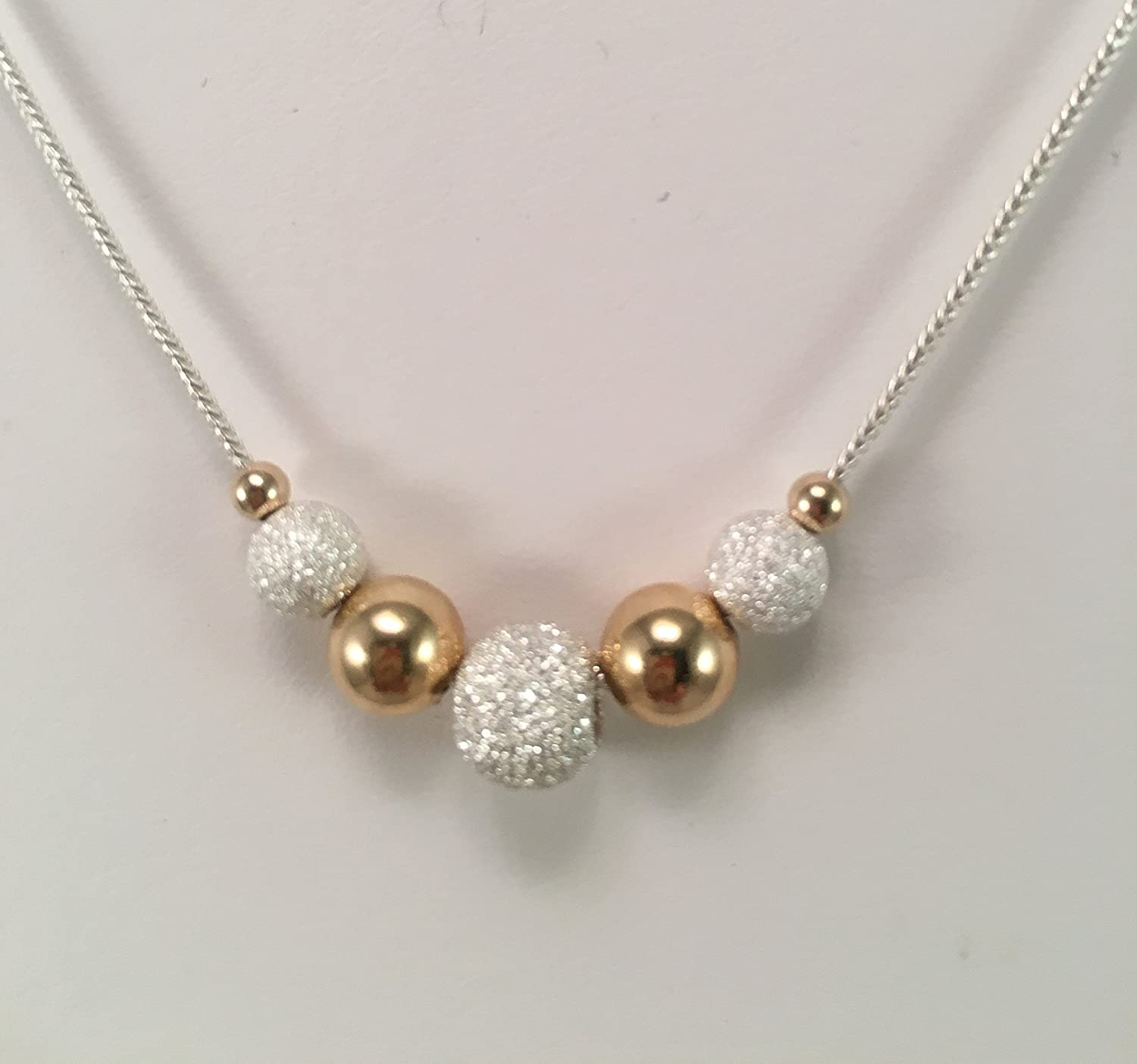 Soldering 14k Gold and Silver Necklace Beaded Cheap super special price