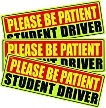 Custom Autos New Driver Magnet Safety Sign For Vehicle Highly Reflective 2pc Premium Quality