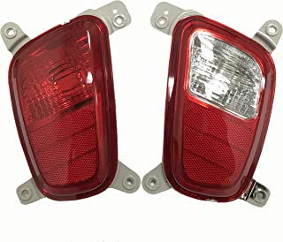 1 Pair Bumper tail light For Kia Picanto Morning Eurostar Rear signal Fog lamp Reflector Indicator 2018 2019