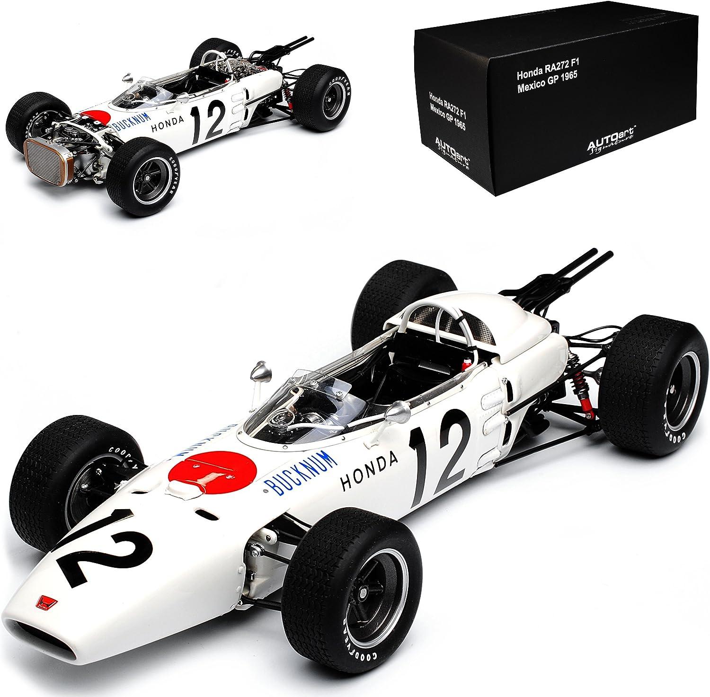 AUTOart Honda RA272 F1 Formel 1 Grand Prix 1965 Mexiko Ronnie Bucknum Nr 12 86598 1 18 Modell Auto mit individiuellem Wunschkennzeichen